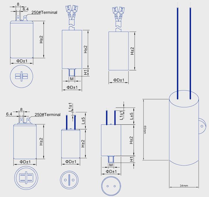 cbb60d02交流电动机电容器