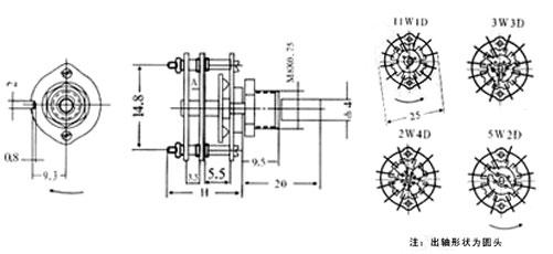 插座三开双控开关  本开关是采用切入式咬合接触结构
